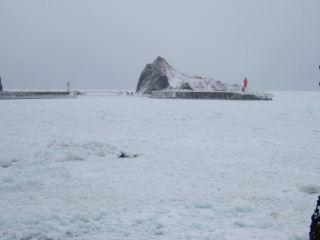 流氷接岸1